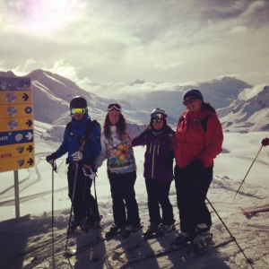Group Shot with Lech Ski Schule Instructor, Martin Schneider