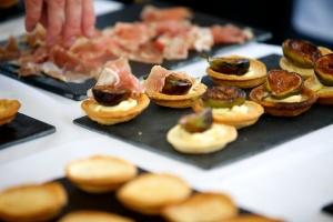 Fig and Parma Ham tarts
