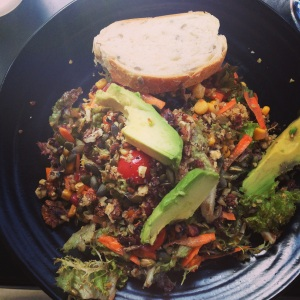 Avocado, quinoa & pumpkin seed salad