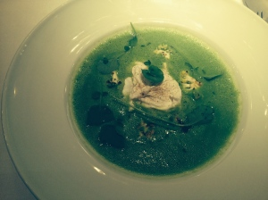 Veloute with Poached Duck Egg