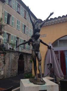 Art statues in Biot town