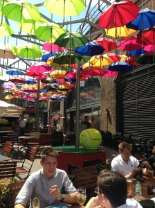 Pretty colours in umbrellas